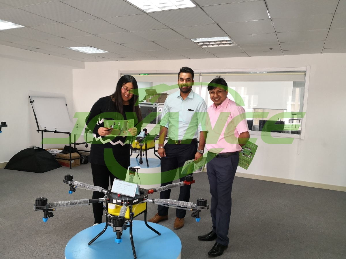 India customers view Joyance sprinkler drone