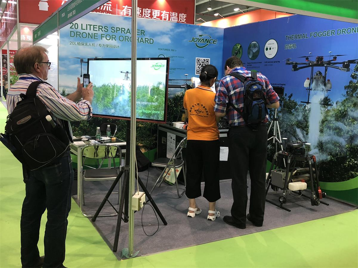 Joyance sprayer drone for orchard are popular at Fruit Expo