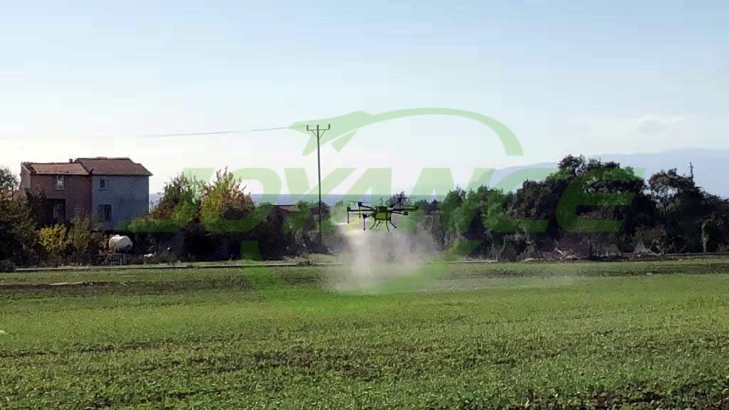 Turkey sprayer drone applying JT15L-608 Pro