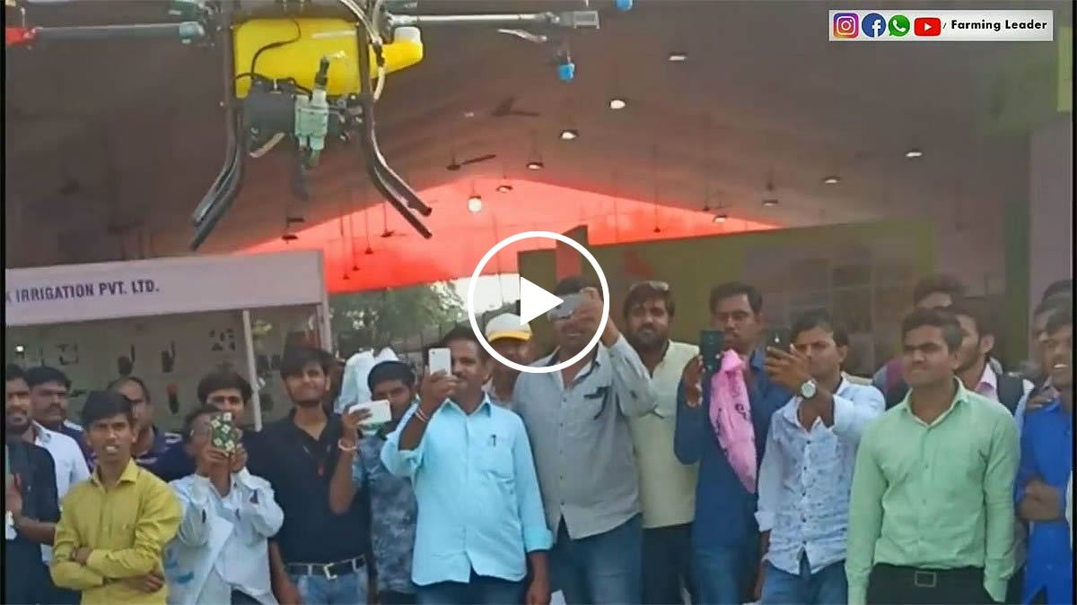 Indian customers bring Joyance drone to participate agriculture exhibition