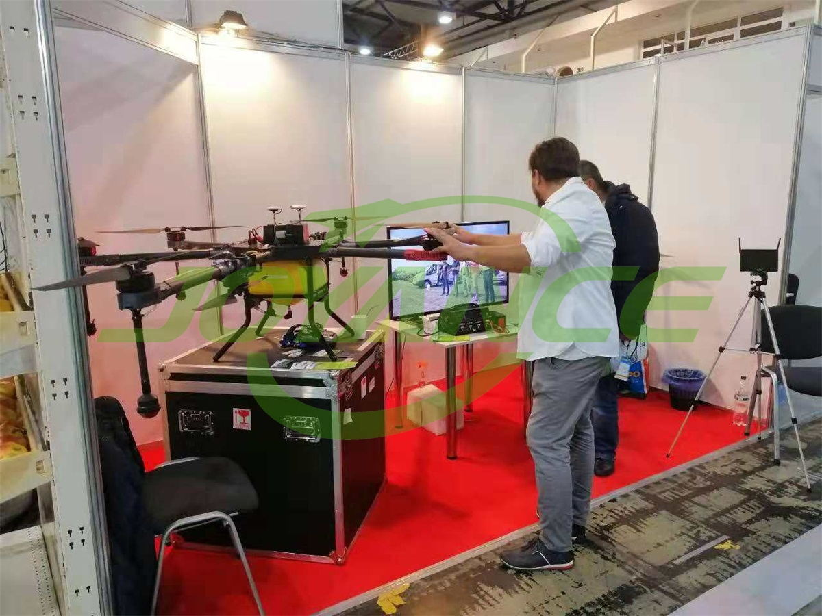 Joyance spraying drones at the Ukrainian Agricultural Exhibition