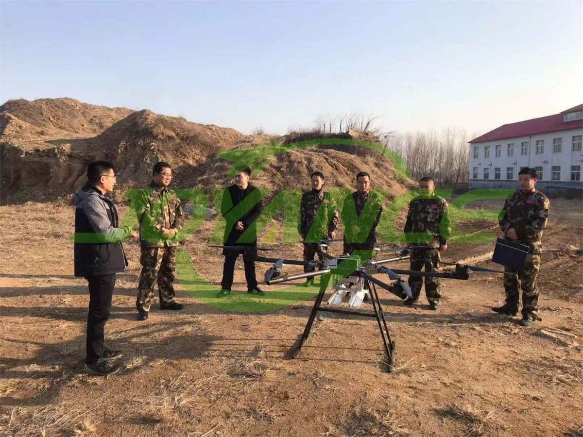 Joyance Tech cooperate with partner to develope fire fighting drone