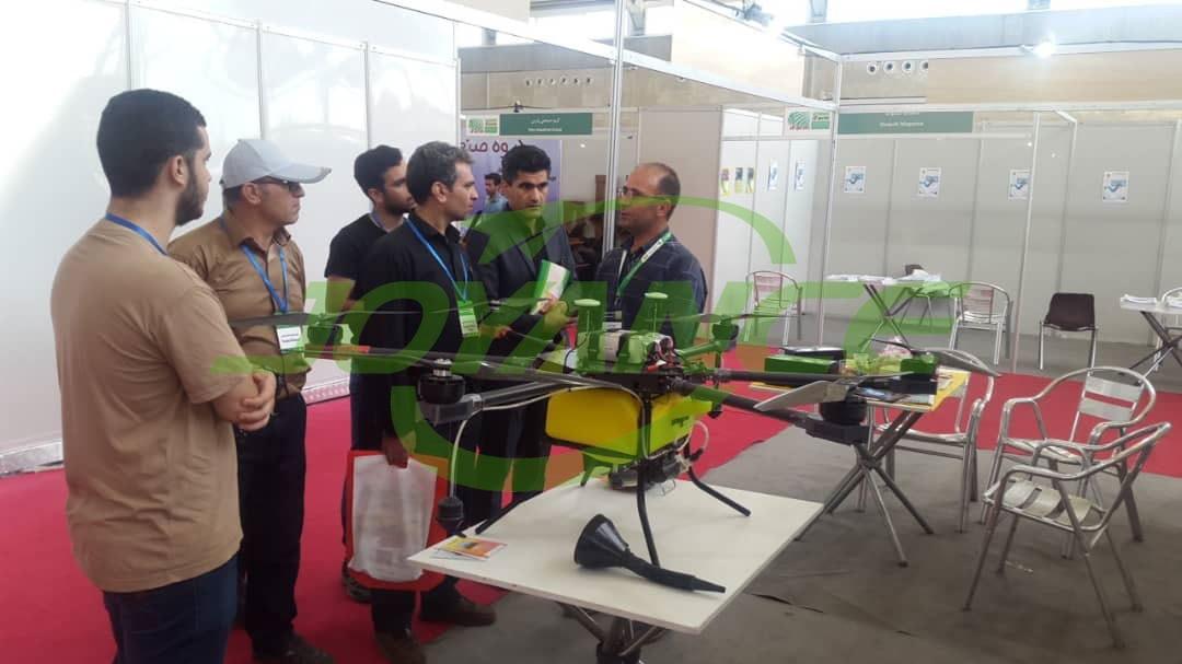 Joyance agent promote drones on agriculture exhibition